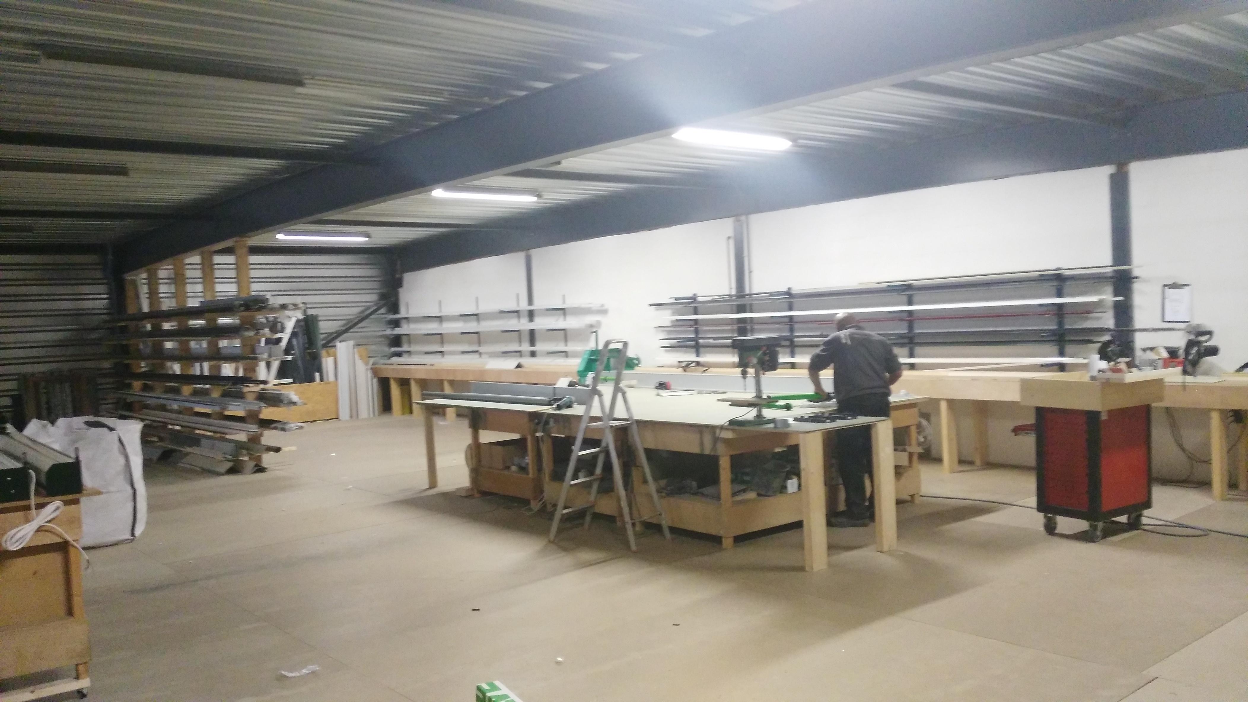 wbb dakkappelen - eigen productiehal - gedeelte 1