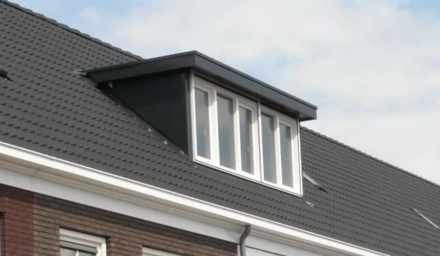 wbb-dakkapellen - Aluminium dakkapel geplaatst in Deurne met drie kiep-tuimelramen
